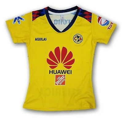 ba3b0441b68 Club America Women s Third Soccer Jersey 2018 Slim Fit 100% Polyester
