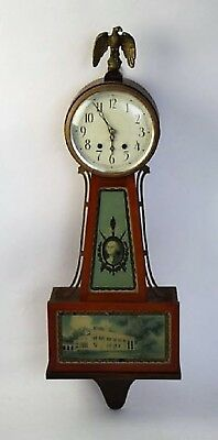 "Antique Seth Thomas Banjo Clock ""george Washington"""