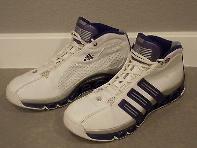 5f6a8ef1a51bd Adidas Mens A3 Superstar Basketball Shoes Size 11 Purple White Mid Top 2005