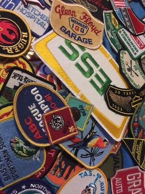 HUGE LOT OF 130+ VINTAGE EMBROIDERED PATCHES Sports BEER HARLEY Guns & More