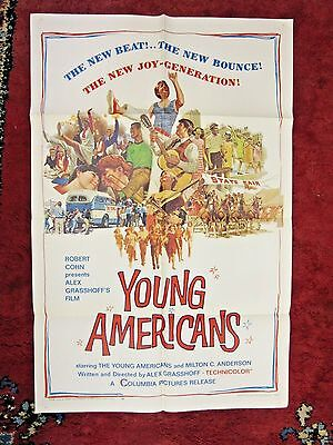 "YOUNG AMERICANS~27""x41""~ORIGINAL~1967~1-Sheet~Mid-Century~Movie Poster"
