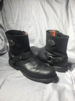 ce2934fdac4c Mens HARLEY DAVIDSON 95262 black leather Zip Scout motorcycle boots. Sz 9.5  M