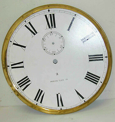 American Self Winding Clock Co Bezel And Dial