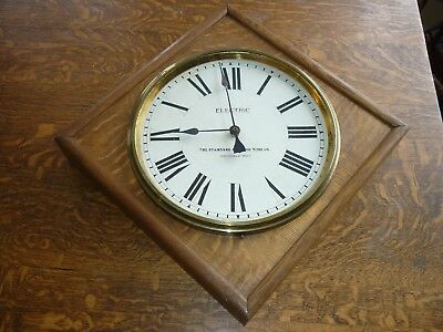 Standard Electric Time Company School Clock