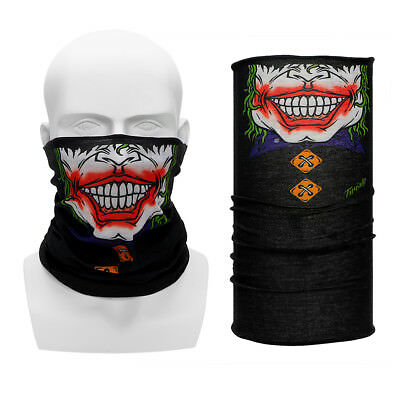 Funny Motorcycle Face Mask Bicycle Riding Half Face Mask Wicking Seamless Scarf