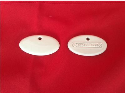 30 Ivory Longaberger Herb Markers 1 & 7/8 x 1 inch