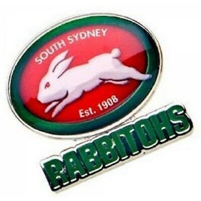 South Sydney Rabbitohs Official NRL Logo Lapel Tie Pin FREE POST