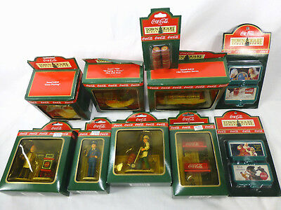 Coca Cola Town Square Collection 1992 collectible figurines lot of 10
