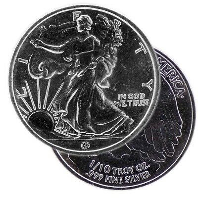 Walking Liberty .999 Silver Rounds - Lot of 1 - 1/10 t oz - GAM - New