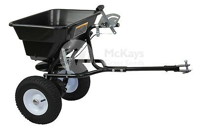 Tow Behind Broadcast Spreader 36kg 80LB Seed Fertiliser Tow Rotary
