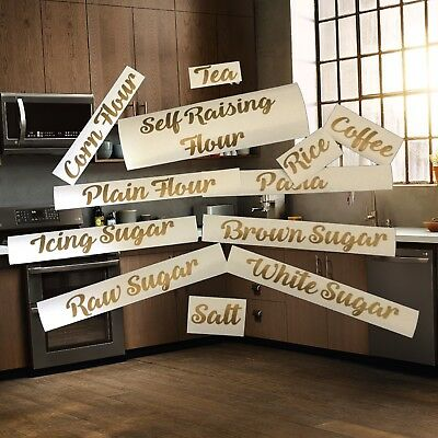 Customised Pantry Labels Waterproof Kitchen Canister Stickers Home Organising