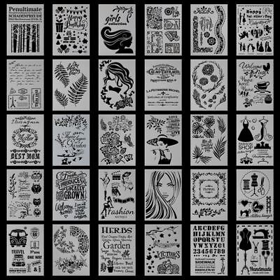 DIY Crafts Layering Stencils Template For Walls Painting Scrapbooking Stamping