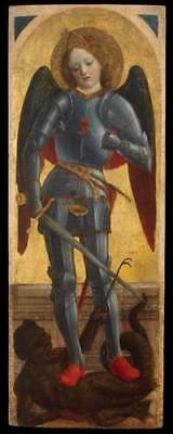 Vincenzo Foppa Archangel Michael giclee 16.5X6.2 print on canvas reproduction