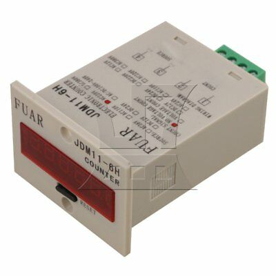 Digit Display Electronic Accumulating Counter 0-999999 Range AC 100-240V