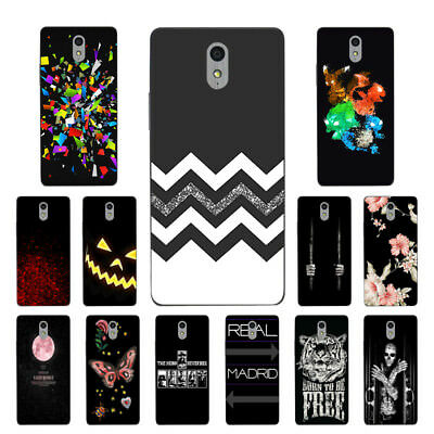 Soft TPU Silicone Case For Lenovo Vibe P1M Protective Back Covers Skins Black