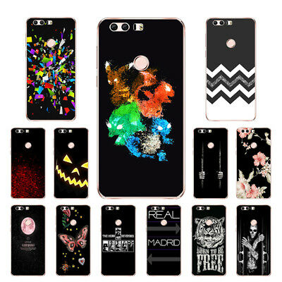 "5.2"" Soft TPU Silicone Case For Huawei Honor 8 Phone Back Cover Skins Black"