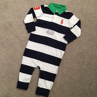 *CLEARANCE* Only One * NEW Ralph Lauren Polo Cotton Baby Boys Romper