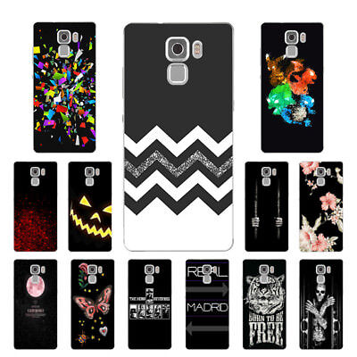 "5.2"" Soft TPU Silicone Case For Huawei Honor 7 Phone Back Cover Skin Black"