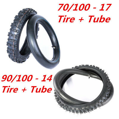 "70/100 - 17"" Front 90/100 - 14""  Rear Tyre Tire Tube For PIT PRO Trail Dirt bike"