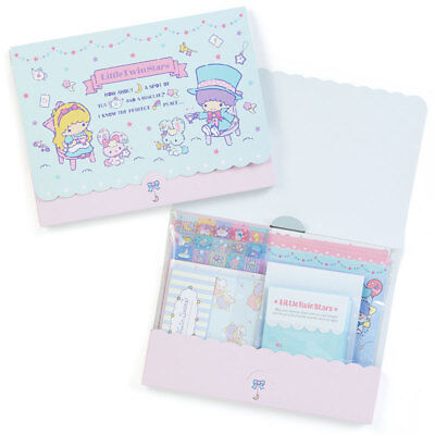 Little Twin Stars Sanrio Letter Set Case Envelope Seal Japan New Free shipping