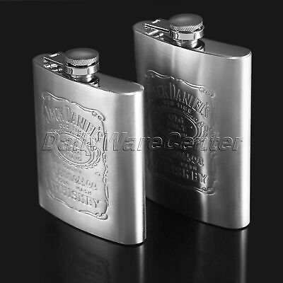 Portable Liquor Hip Flask Gift Whiskey Vodka Alcohol Wine Flagon Bottle Steel