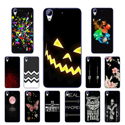 Soft TPU Silicone Case For HTC Desire 628 Protective Back Covers Skins Black