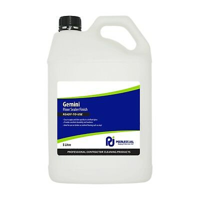 Peerless GEMINI FLOOR SEALER FINISH 5L Ready To Use, Dries Quickly *Aust Brand