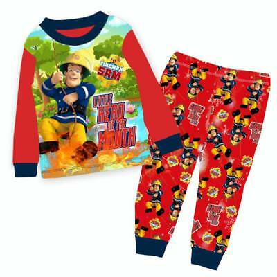BNWT-Boys Fireman Sam Red Pyjamas Sleepwear Many Sizes.