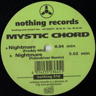 """12"""": Mystic Chord - Nightmare - Nothing Records - nothing 010"""