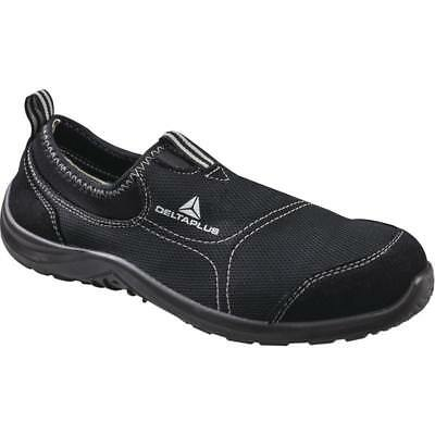 Delta Plus MIAMI Canvas Slip On Safety Trainer Shoes Black (Sizes 7-12)