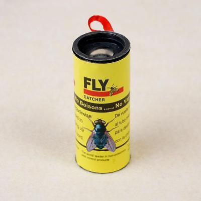 4 Rolls Insect Fly Catcher Trap Glue Paper Ribbon Tape Sticky Flies Rolls