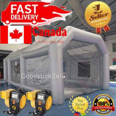26FT Inflatable Paint Tent Spray Paint Booth Giant Car Workstation Fan Spray CAN