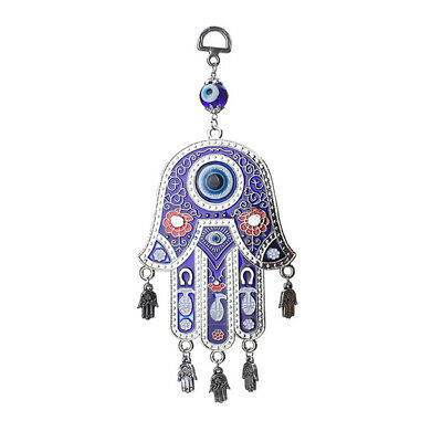 Lucky Blue Hamsa Evil Eye Charm Amulet Hanging Wall Decoration For Protection