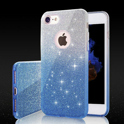 Luxury Case Glitter Silicone Soft TPU Case Cover Back for iPhone 6 6S 7 8 Plus X