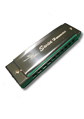 New Silver Swan Harmonica 10 Hole Key of C for Blues Rock Jazz Folk Harmonica UK