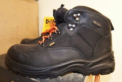 Site Onyx Black Safety Steel Toe Work Boots Size 11 / EU 45 - VGC - AA664