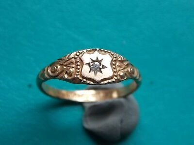TRULY WONDERFUL antique ornate rolled gold child's ring. Metal detecting find