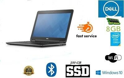 Cheap Laptop Core i5 4th Gen. Dell Latitude E7240 8GB 256GB SSD Windows 10 Pro