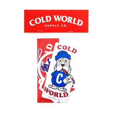 Cold World Supply Co. Cold World Sticker Pack 24Hundred