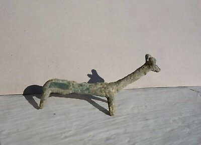 magnificent ancient Bronze Age zoomorphic statuette, figurine