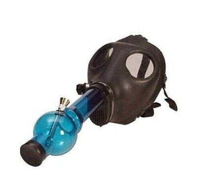 NEW Silicone Gas Mask with Tobacco Smoking Acrylic Hookah Water Pipe Bong Bowl
