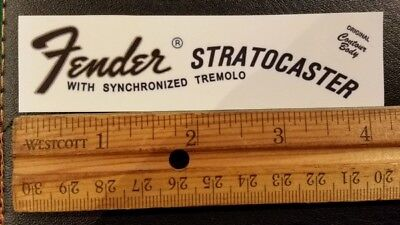 Fender Stratocaster CBS Restoration Waterslide Decal FREE SHIP!