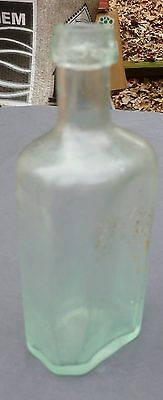 OPEN PONTIL UTILITY BOTTLE-Small Rectangular-Freeblown-Hand Formed Sides-1830s-