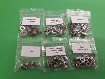 VW Beetle GOLDE Sliding Sunroof Ragtop STAINLESS Fasteners Screws Bolts Kit 1200