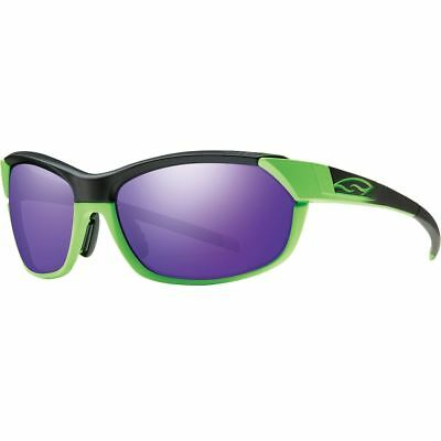 Smith Pivlock Overdrive Sunglasses Reactor Green/Purple Sol-X / Clear One Size