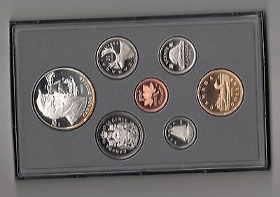Canada  Proof  Set 7 Werte 1995  Elisabeth II Nr.55/16/16/540