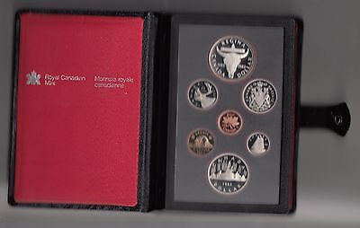 Canada  Proof  Set 7 Werte 1982  Elisabeth II Nr.52/16/16/542