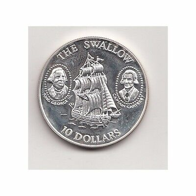 Solomon Island 10 Dollar 1994 Elisabeth II/The Swallow  Nr. 2/59/15