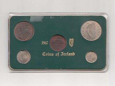 Irland Mint Set 5 Werte 1967 Nr.5/39/15/260