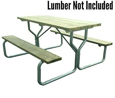 ALUMINUM PICNIC TABLE Frame Commercial Gradeframe OnlyRosendale - Aluminum picnic table frame